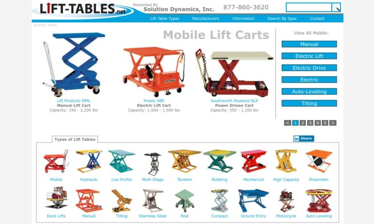 Lift-Tables.net